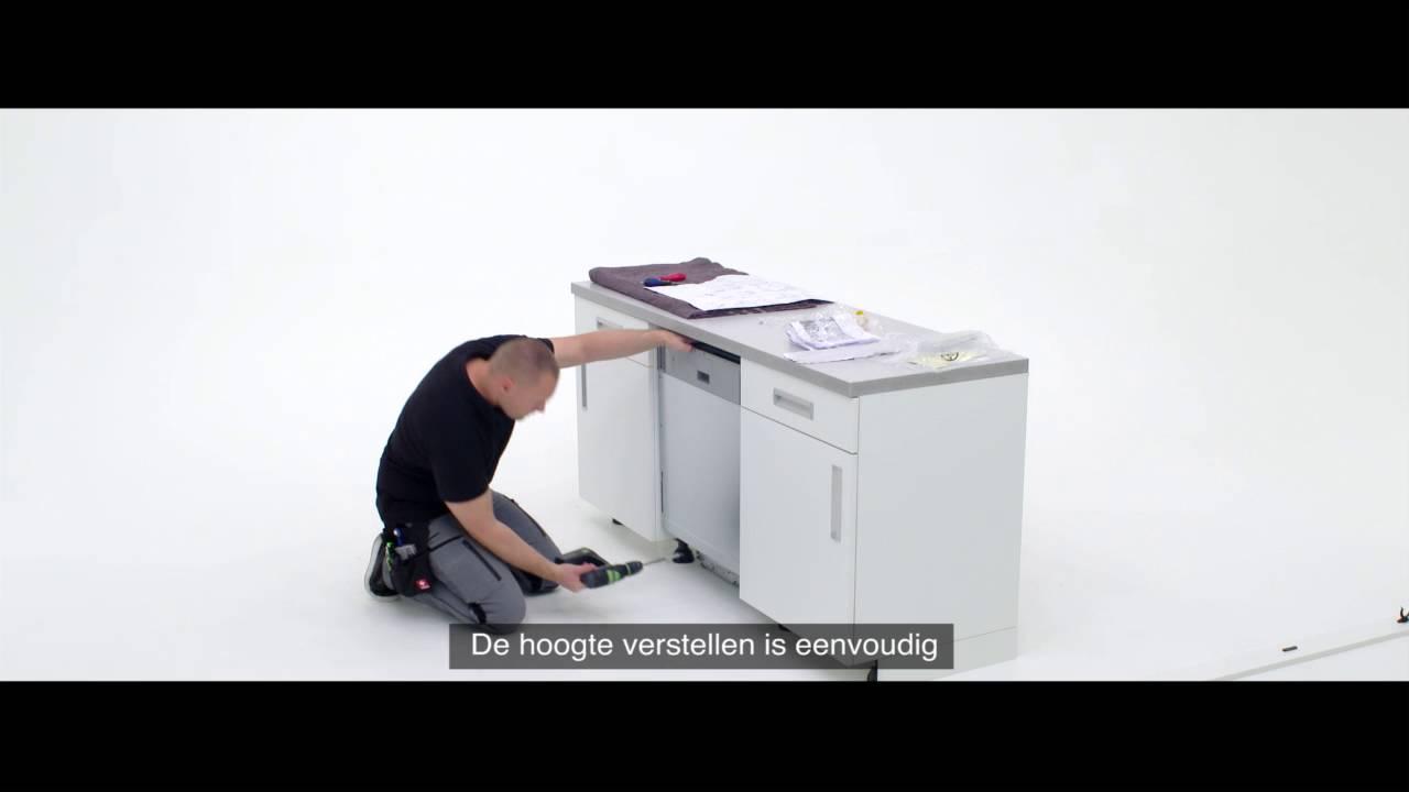 Aeg Keuken Inbouwapparatuur : Zelf een aeg pro clean vaatwasser met sleepdeur installeren youtube