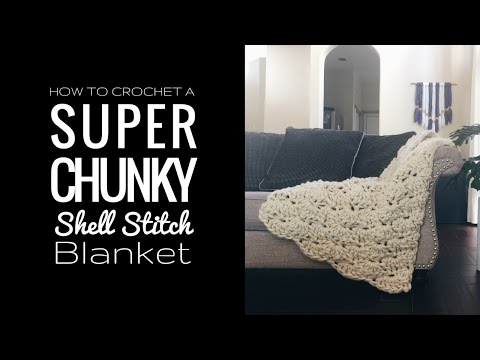 Crochet pattern for chunky yarn blanket