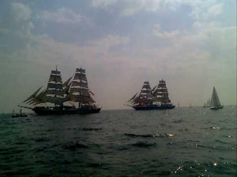 I Saw Three Ships - Sting (Kruzenstern / Tall Ship Video)