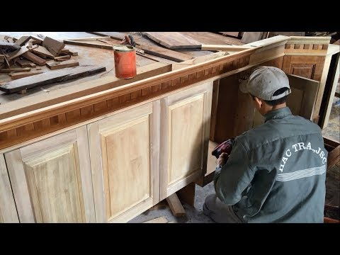 Amazing Woodworking Skills Extremely Smart – Project Repair and Upgrade Kitchen Cabinets