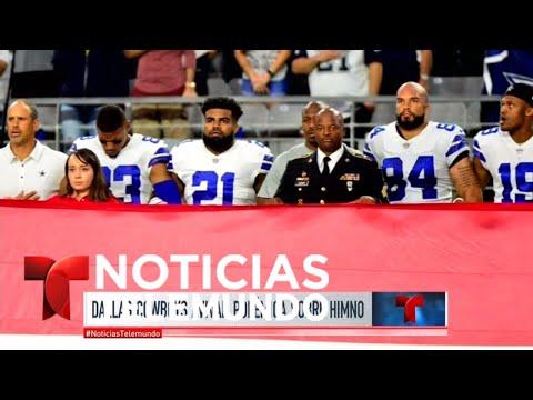 Crece la polémica entre Trump y deportistas de la NFL | Noticiero | Noticias Telemundo