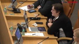 Вопрос Евгении Бухаровой мэру Эдхаму Акбулатову Сессия 29 марта