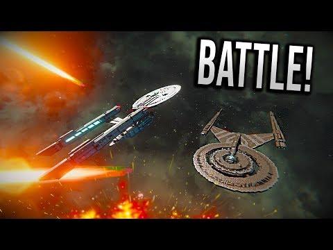 USS ENTERPRISE vs USS DISCOVERY! - Star Trek BATTLE - Space Engineers!