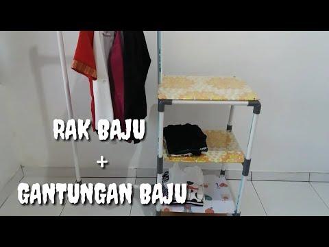 Cara membuat rak dan gantungan baju dengan Pipa PVC