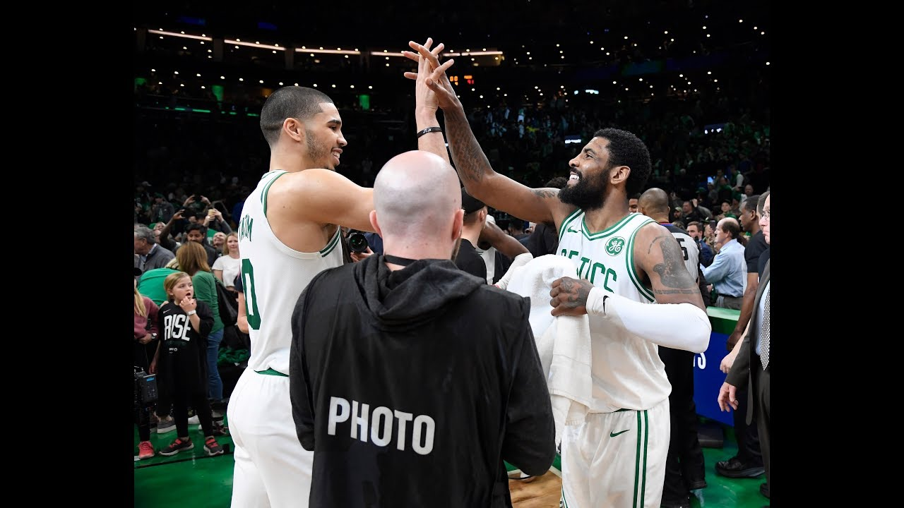 9ad64f03407 Kyrie Irving and Jayson Tatum Took Over the 4th Quarter In Game 2 vs. Pacers