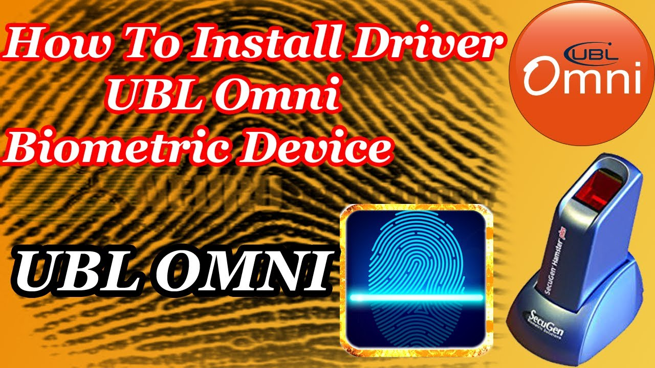 how to install Drivers ubl omni biometric device Urdu Hindi