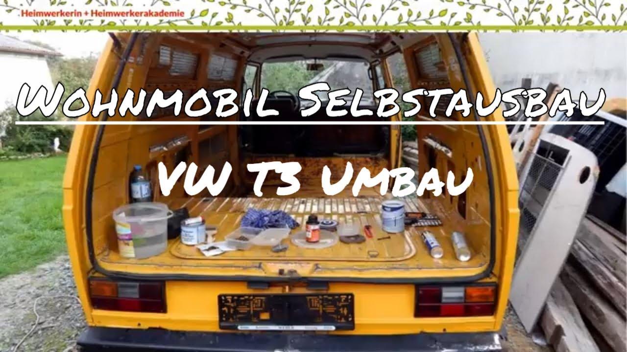 Wohnmobil Selbstausbau Umbau Eines Vw T3 Zum Campingbus