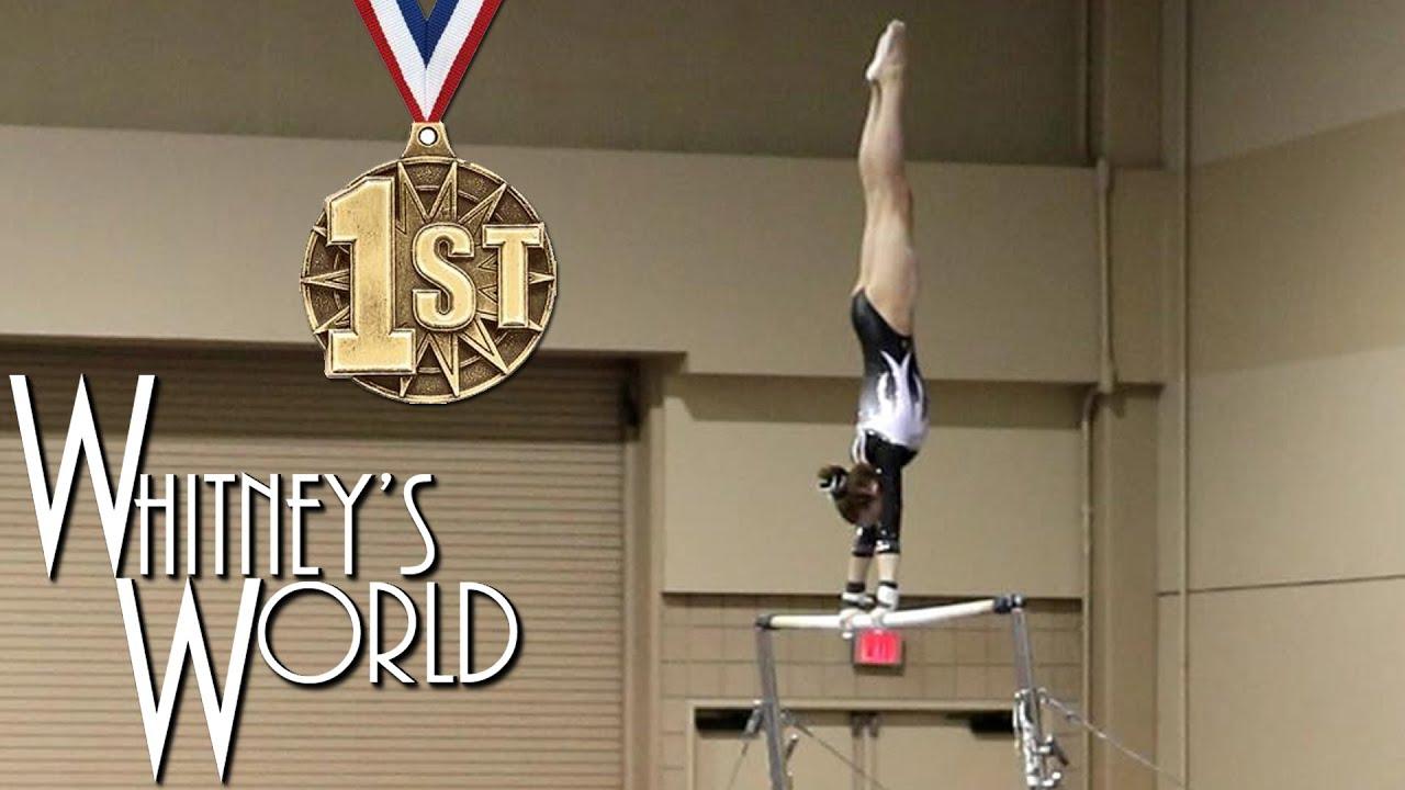Whitney Bjerken | 2nd Level 8 Gymnastics Meet | All Around Champion ...