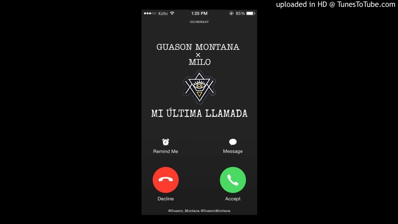 Guason Montana - Mi Última Llamada Ft Milo (Audio)