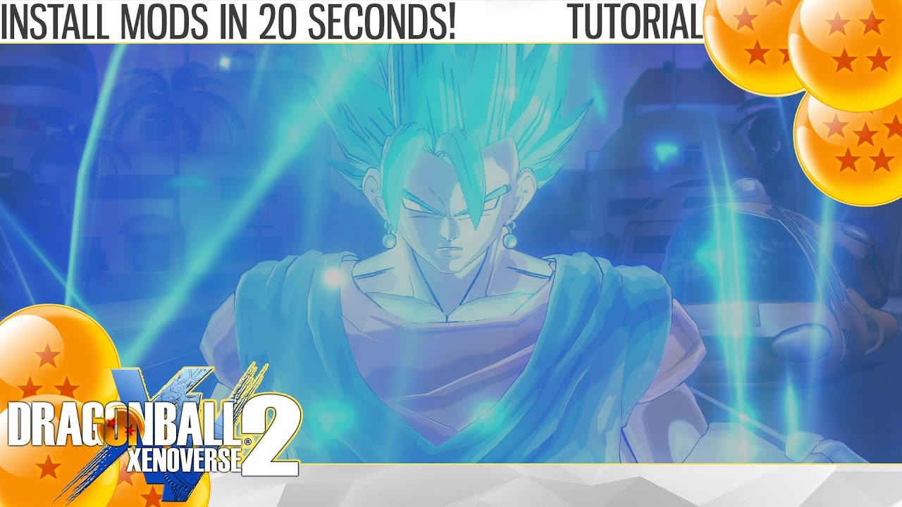 Dragon Ball Xenoverse 2 - How to Install Mods in 20 seconds! (Tutorial)