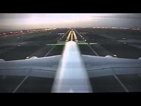 Landing in Dubai (Tail camera, A380 Emirates, March 2015)