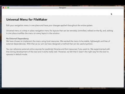 Dynamic Menu: a universal menu for Claris FileMaker