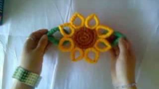 IDEA : Flores : Girasoles corrugados / Adorno Primavera