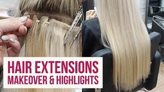 Hair Extensions Makeover!! 💇‍ Come with me to the hairdressers💖