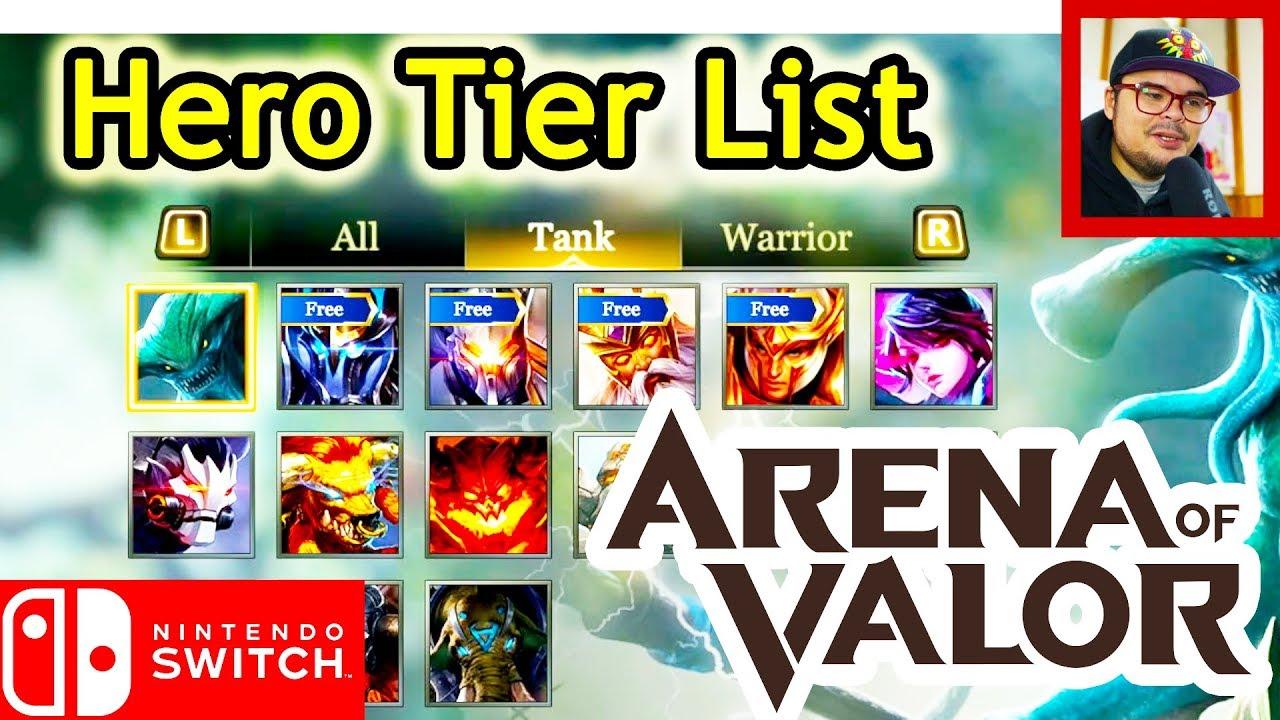 Hero Tier List - Arena of Valor (Nintendo Switch) 9/12/18