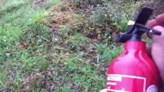 Alarme Incendie - TEST d'un extincteur POUDRE 1Kg
