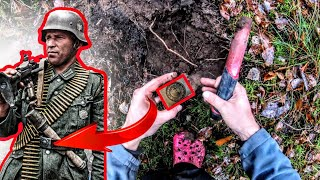 Lost WW2 belongings from a soldier found metal detecting in Poland