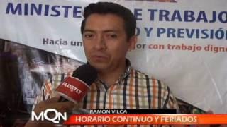 HORARIO CONTINUO Y FERIADOS