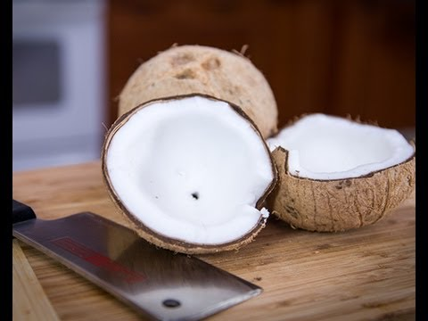 Part II: Brown vs. White Coconut- The easiest way to open a mature (brown) coconut