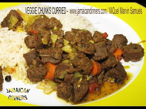 VEGGIE CHUNKS: Curried Bursting Organic Flavors Formula | Rastafarian Vegetarian Cuisine