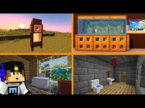 Minecraft. ПОСТРОЙКИ. #36. Топ 5 лучших декораций без модов! (Туториал)