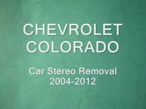 hqdefault chevrolet colorado stereo removal and repair 2004 2012 youtube 05 colorado radio wiring harness at crackthecode.co