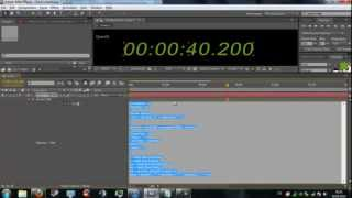 After Effects Tutorial | How to create a digital-timer / Uhr / countdown