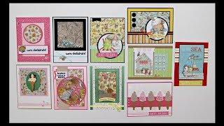 Love from Lizi July card kit - 10 cards 1 kit