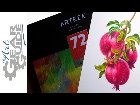 Arteza Speed Drawing Pomegranates