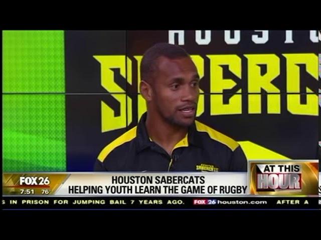 SaberCats Osea Kolinisau and Matt Trouville discuss SaberCats Academy on Fox 26