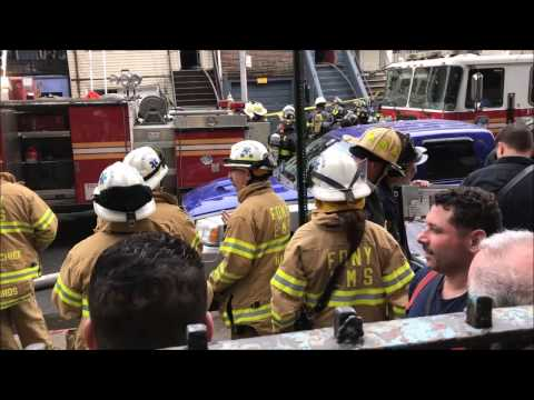 (READ DESCRIPTION) - FDNY BATTLES QUICKLY CONTAINED 4TH ALARM FIRE ON COLLEGE AVENUE IN THE BRONX.
