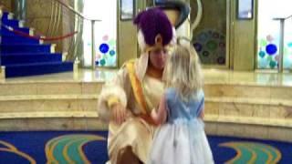 Meeting Aladdin on the Disney Wonder