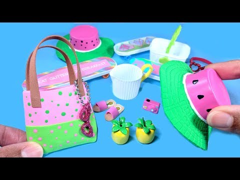 10 DIY Miniature Summer Doll Crafts - Watermelon Hat, Purse, Sandals, & More