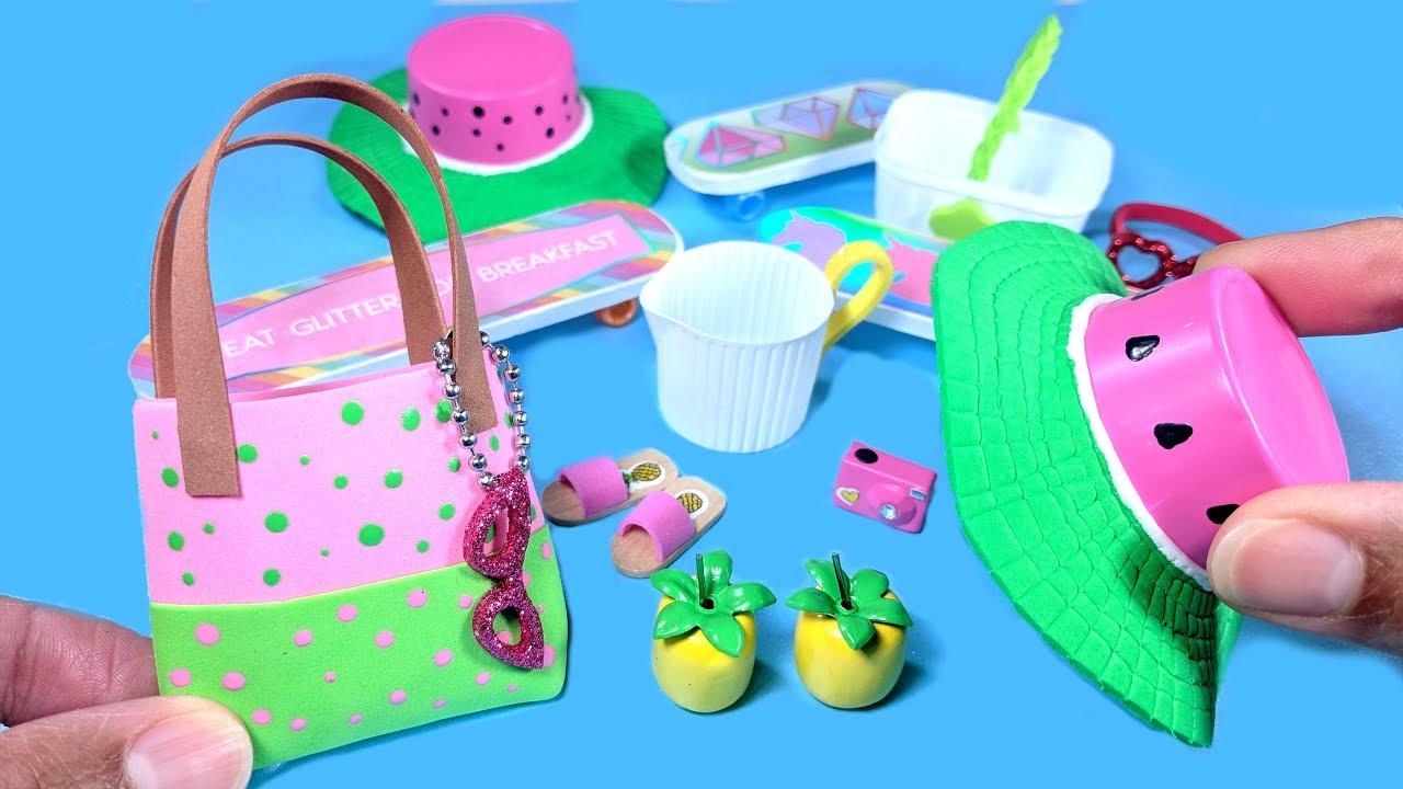10 DIY Miniature Summer Doll Crafts - Watermelon Hat d3340b2abed5