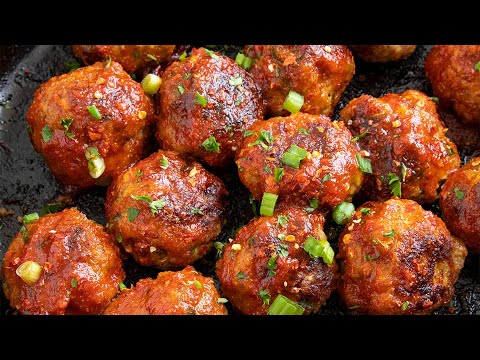 Honey-Sriracha Turkey Meatballs – Chili Pepper Madness