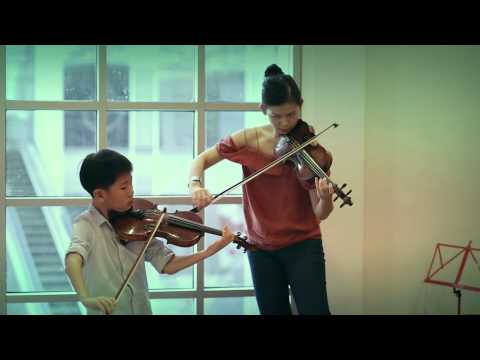 "Wieniawski ""CAPRICE"" MIN LEE & SAMUEL TAN (9 years old) JUNE 2014"