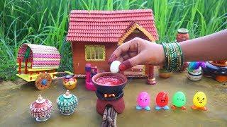 Miniature Egg Stuffed Paratha + Egg Gravey   Anda Paratha Recipe   Mini Foodkey