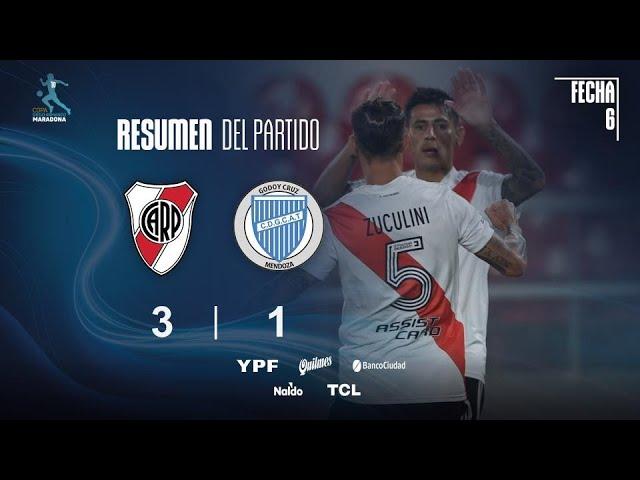Copa Diego Maradona | Fecha 6 | resumen de River - Godoy Cruz
