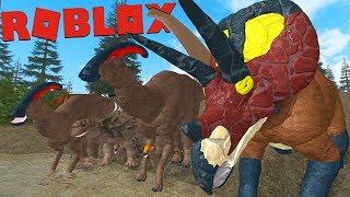 ROBLOX (Ära des Terrors) | wanderung!! Super Herde von pflanzenfressenden Dinosauriern!! | (PT/BR)
