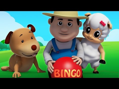 bingo anjing song | bayi lagu & sajak | Bingo Song For Kids | 3D Kids Rhymes | Preschool Songs
