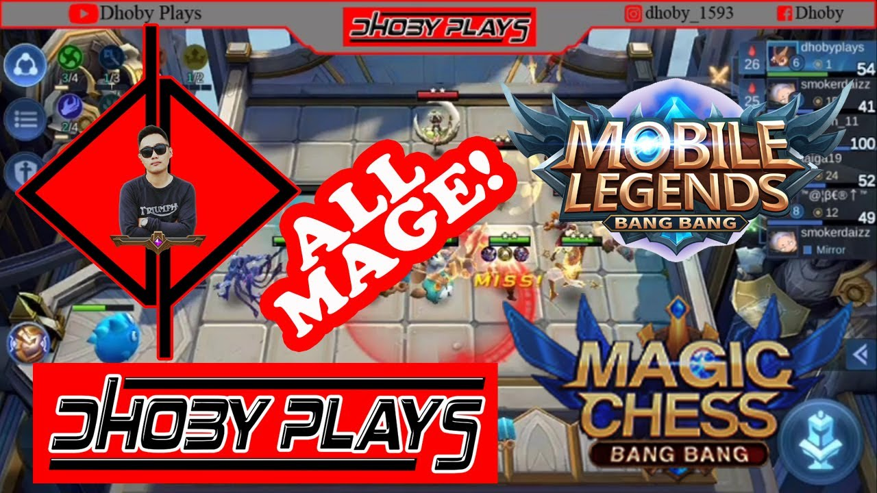 ALL MAGE GAMEPLAY in MAGIC CHESS MLBB