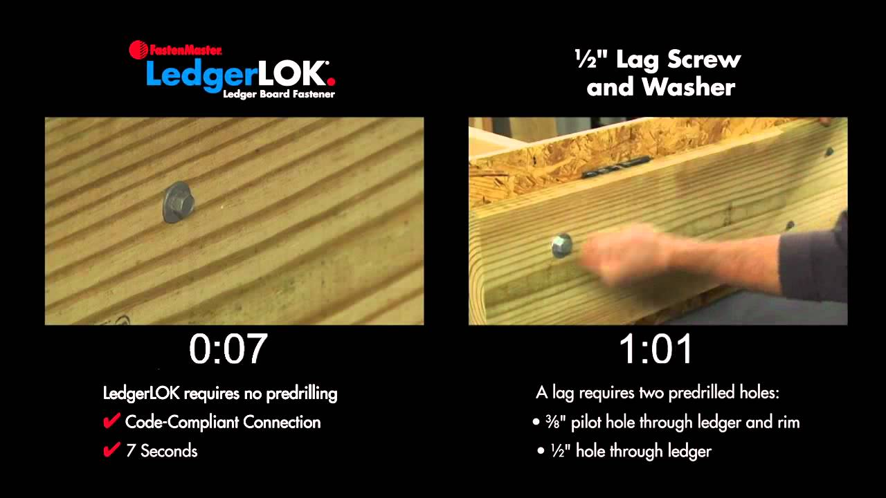 Fastenmaster Ledgerlok Vs 12 Lag Screws Youtube