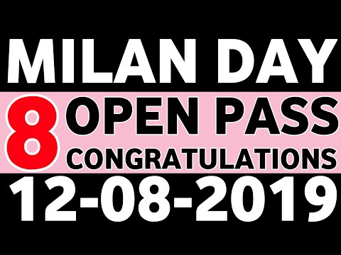 Repeat MILAN DAY DATE 12-08-2019 STRONG OPEN TO CLOSE WITH 4