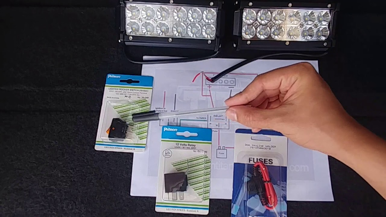 How to Make Your Own LED Light Bar Wiring Harness - DIY - YouTube Office Led Lifht Wiring Diagram on
