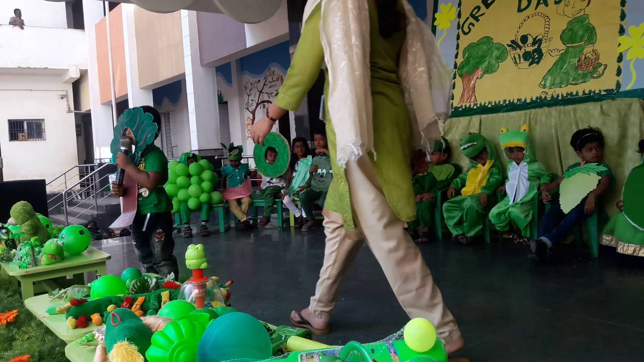 GREEN COLOR DAY KIDS CELEBRATION 2016-ELITE MHSS,REDHILLS - YouTube
