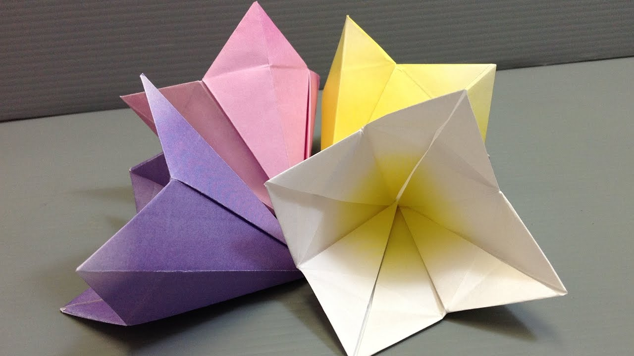 Make your own origami bell flowers print at home youtube mightylinksfo