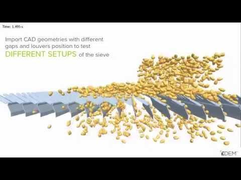 EDEM Simulation of Combine Harvester: Screw Auger Systems