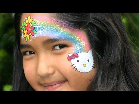 Maquillage Halloween Hello Kitty.Maquillage De Hello Kitty Tutoriel De Maquillage Des Enfants Youtube