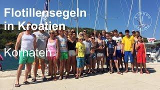 Flottillensegeln in Kroatien im Juli 2015: 1. Teil Kornaten-Route