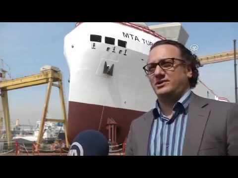 İlk yerli sismik gemimiz suya indirildi - Turkish seismic ship